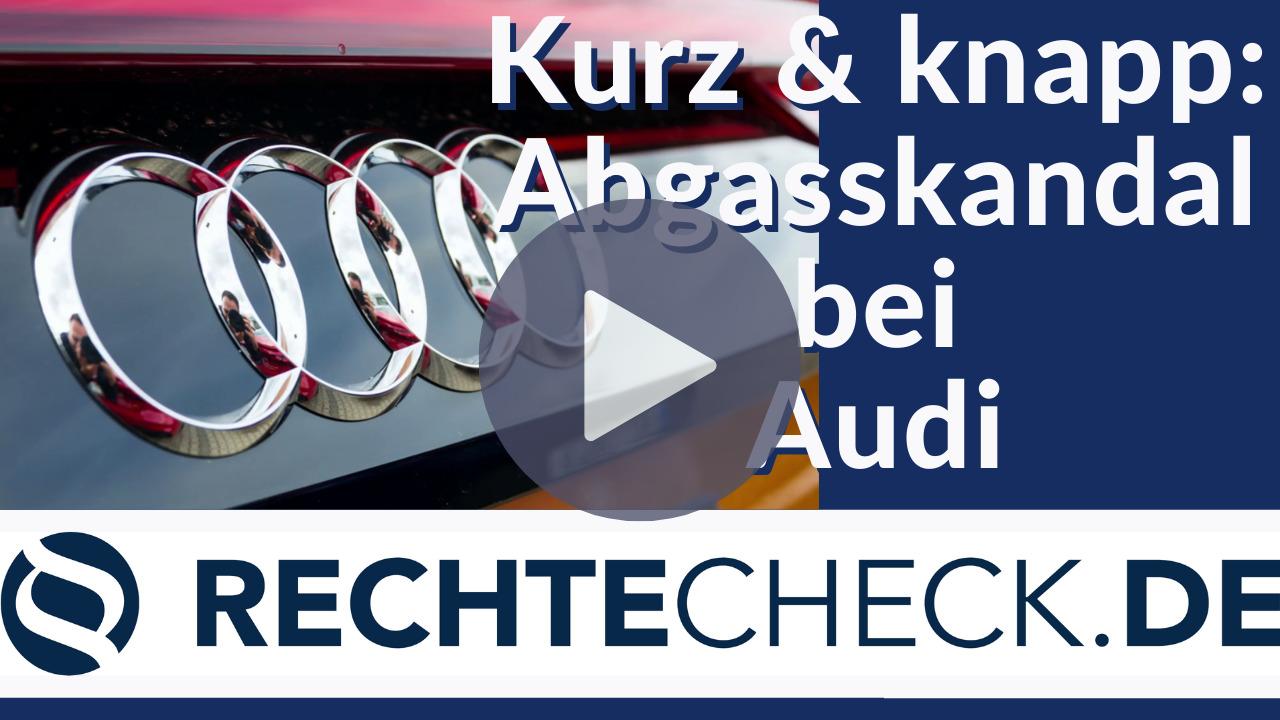 Abgasskandal bei Audi (Kurze Zusammanefassung)
