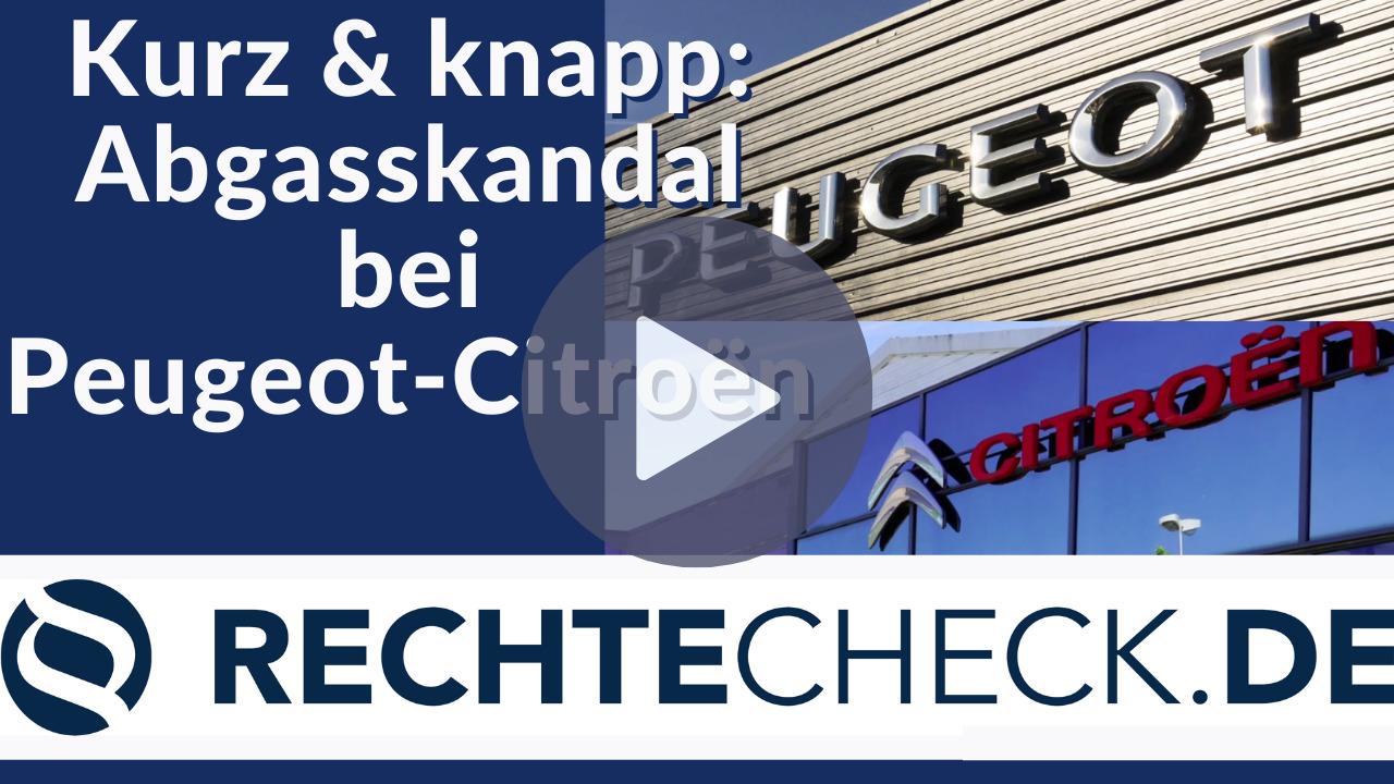 Abgasskandal bei Peugeot-Citroën (Kurze Zusammenfassung)